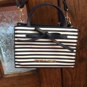 Mini Christian Siriano Bag navy white striped